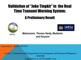 In the 3 rd  International Symposium on Earthquake and Disaster Mitigation (ISEDM)