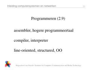 Programmeren (2.9)