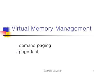 Virtual Memory Management
