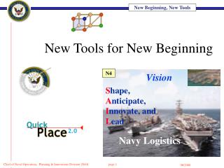 New Tools for New Beginning