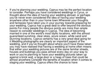 If you're planning your wedding