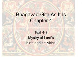 Bhagavad-Gita As It Is Chapter 4