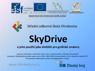 SkyDrive a jeho použití jako úložiště pro grafické soubory