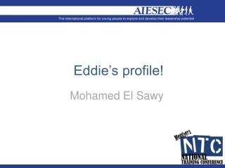 Eddie's profile!
