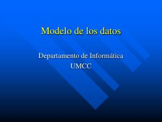 Modelo de los datos