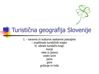 Turistična geografija Slovenije