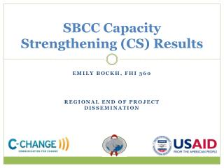 SBCC Capacity Strengthening (CS) Results