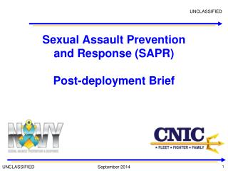 Sexual Assault Prevention and Response (SAPR) Post-deployment Brief