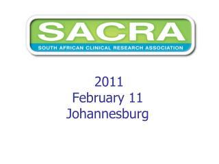 2011  February 11 Johannesburg