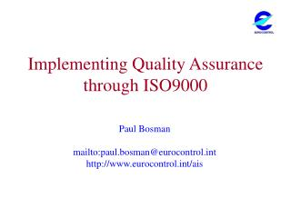Implementing Quality Assurance through ISO9000