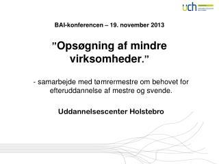 """BAI-konferencen – 19. november 2013 """" Opsøgning af mindre virksomheder ."""""""