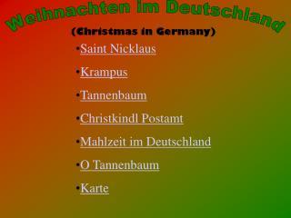 Weihnachten im Deutschland