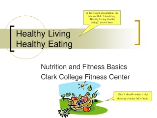 Background to  Healthy Living
