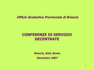 Ufficio Scolastico Provinciale di Brescia