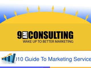 The Guide to Online Marketing Services
