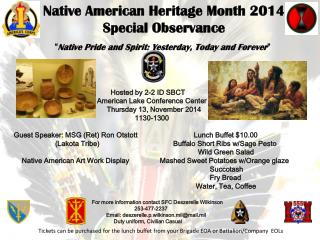Native American Heritage Month 2014  Special Observance