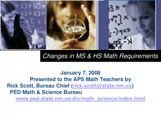 Changes in MS & HS Math Requirements