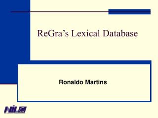 ReGra�s Lexical Database