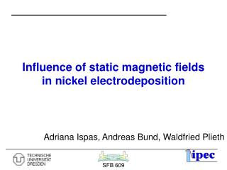 Influence of static magnetic fields in nickel electrodeposition