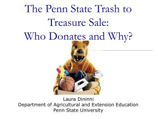 The Penn State Trash to Treasure Sale: Who Donates and Why?