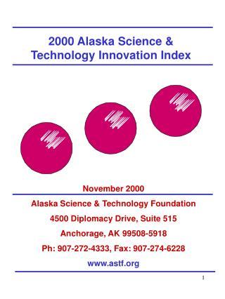 2000 Alaska Science & Technology Innovation Index