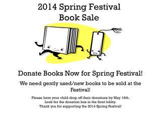 2014 Spring Festival  Book Sale