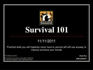 Survival 101