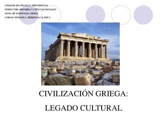 COLEGIO DE LOS SS.CC.-PROVIDENCIA SUBSECTOR: HISTORIA Y CIENCIAS SOCIALES