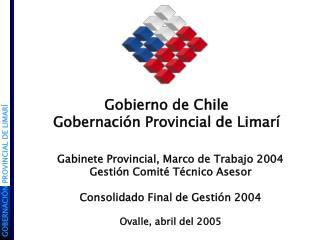 Gobierno de Chile Gobernación Provincial de Limarí