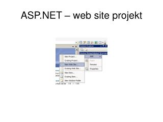 ASP.NET – web site projekt