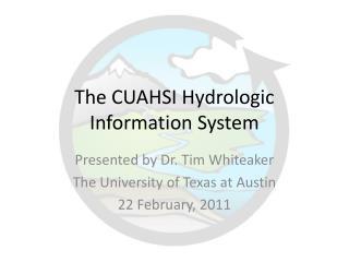 The CUAHSI Hydrologic Information System
