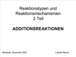ADDITIONSREAKTIONEN