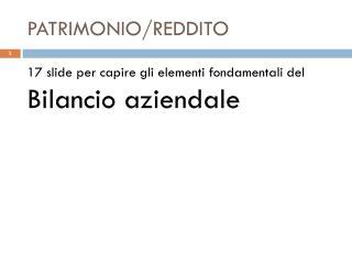 PATRIMONIO/REDDITO