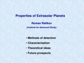 Properties of Extrasolar Planets
