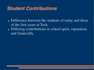 Student Contributions