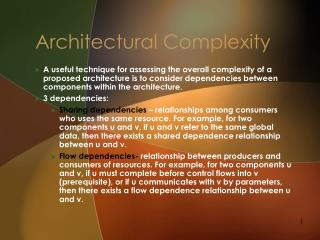 Architectural Complexity