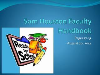 Sam Houston Faculty Handbook