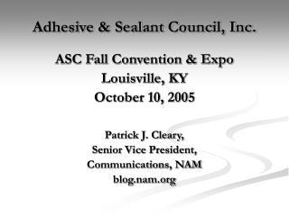 Adhesive & Sealant Council, Inc.