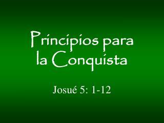 Josu� 5 : 1-12