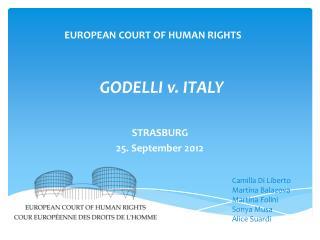 GODELLI v. ITALY