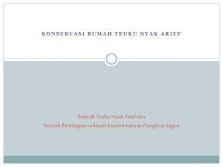 Sejarah Teuku Nyak Arief dan Sejarah Pembagian wilayah kepemimpinan Panglima Sagoe