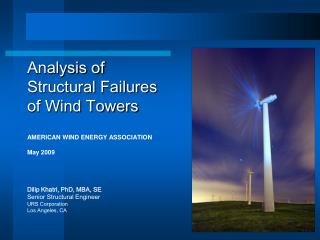 Analysis of  Structural Failures  of Wind Towers