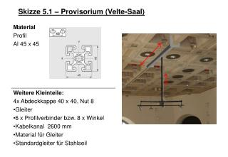 Skizze 5.1 – Provisorium (Velte-Saal)