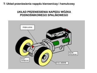T: Układ przeniesienia napędu kierowniczy i hamulcowy