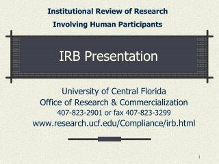 IRB Presentation