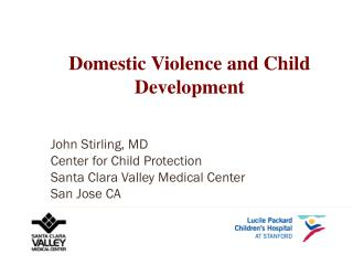 Domestic Violence and Child Development