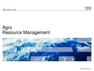 Agro  Resource Management
