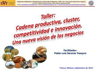 Facilitador:  Pablo Luis Saravia Tasayco