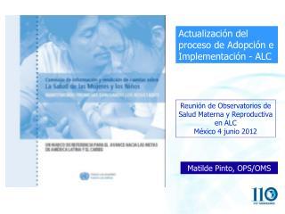 Actualización del proceso de Adopción e Implementación - ALC