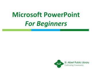 Microsoft PowerPoint For Beginners